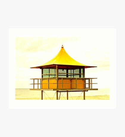 Life-Savers Hut on Glenelg Beach Art Print