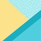 Geometric Daylight - Teal Colorblock Pattern by blueskywhimsy