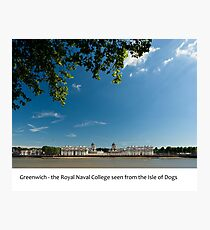 UK - Greenwich Royal Naval College Photographic Print