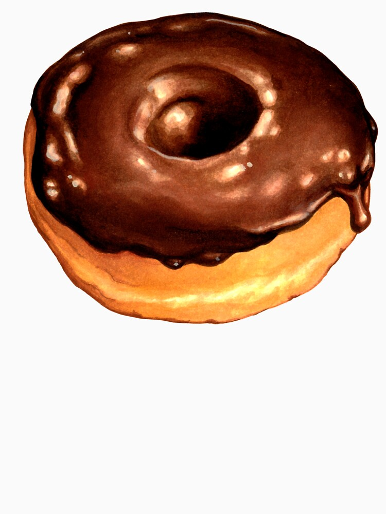 Chocolate Donut Pattern - Pink by KellyGilleran