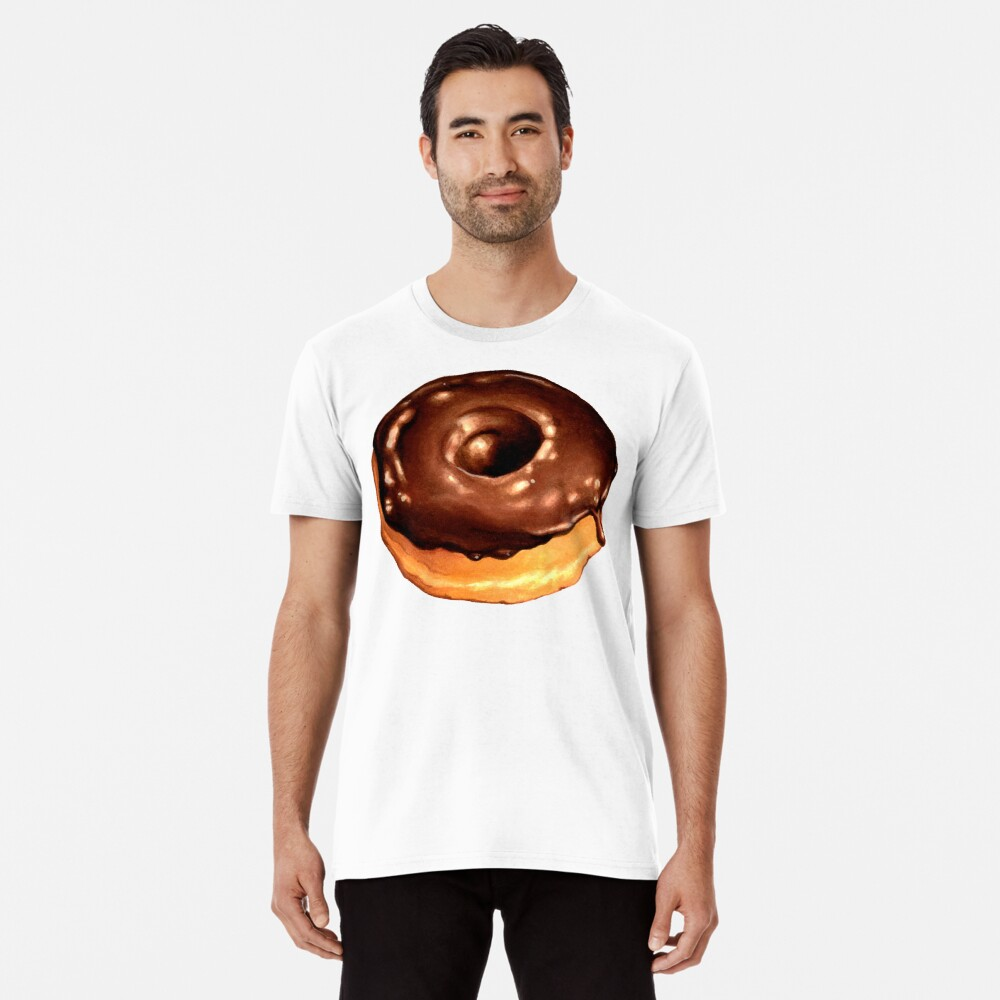 Chocolate Donut Pattern - Pink Premium T-Shirt