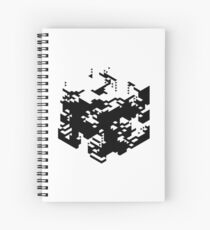 Isometric Decay Spiral Notebook