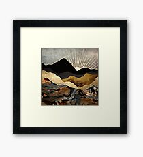 Copper and Gold Mountains Framed Print