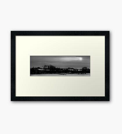 Winter Sun over Edinburgh Framed Print