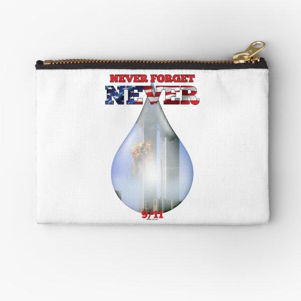 9/11 Never Forget NEVER Tear Zipper Pouch