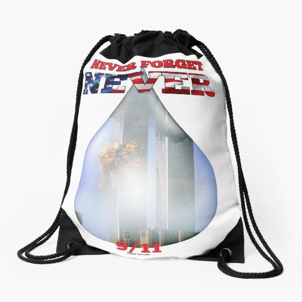 9/11 Never Forget NEVER Tear Drawstring Bag