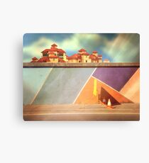 pedestrians use other side Canvas Print