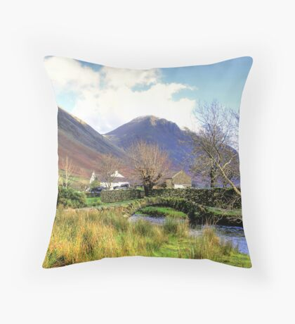 Packhorse Bridge - Wasdale Head #2 Throw Pillow