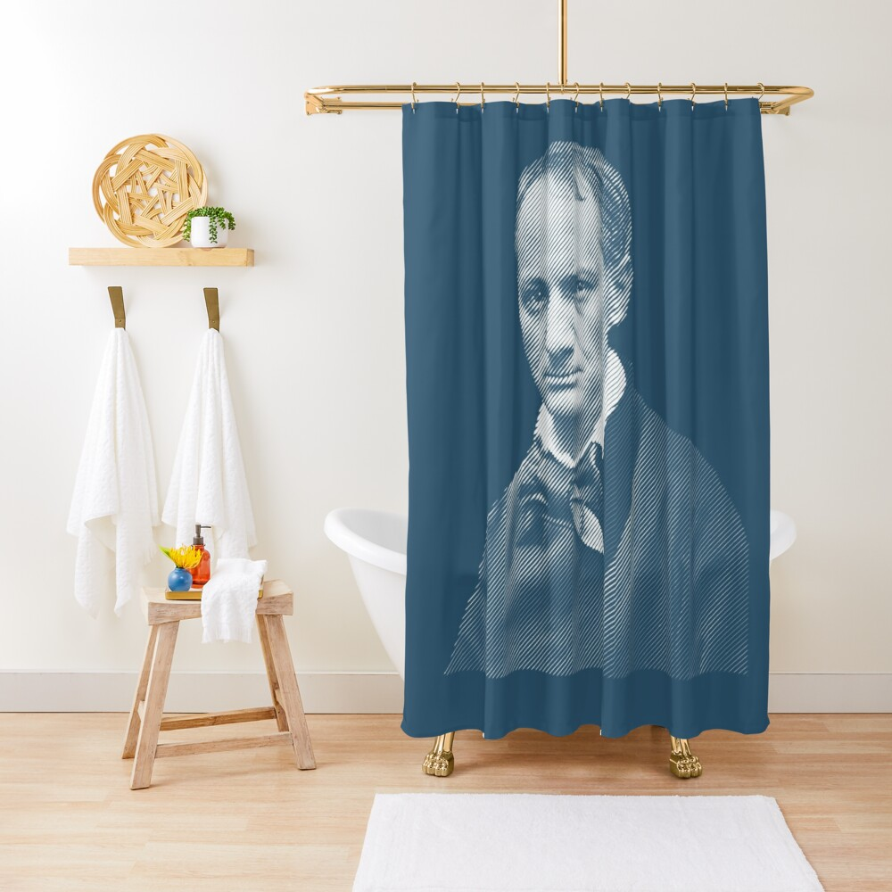 Charles Baudelaire Shower Curtain