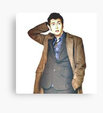 COLOR David Tennant as Doctor Who Canvas Print