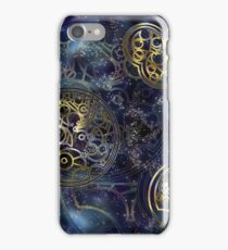 Spacey Tardis Circular Gallifreyan design  iPhone Case/Skin