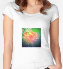 Flower Petals Ablaze Women's Fitted Scoop T-Shirt