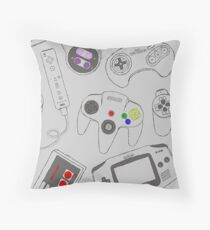 Gaming Controller Pattern Throw Pillow