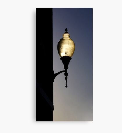 sunlit wall lamp Canvas Print
