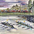 Boat race in the rain by DaniEdmunds