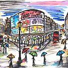 London in the rain by DaniEdmunds