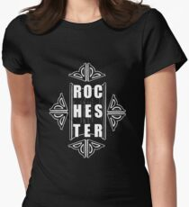 Show some love for Rochester with this design Fitted T-Shirt