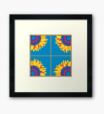 Sunflower Squares (Warhol style) Framed Print