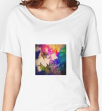 Summer Flower Basket Drenched in Rainbow Women's Relaxed Fit T-Shirt