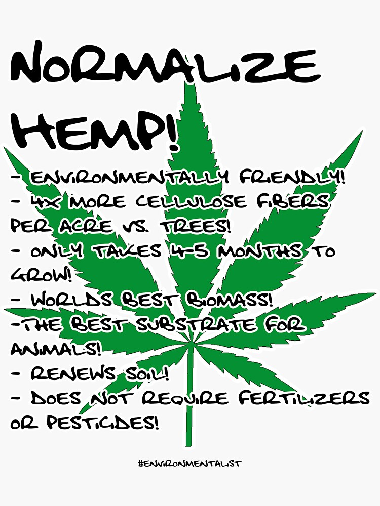 Normalize Hemp and Help Save The Environment by alfredvdheide