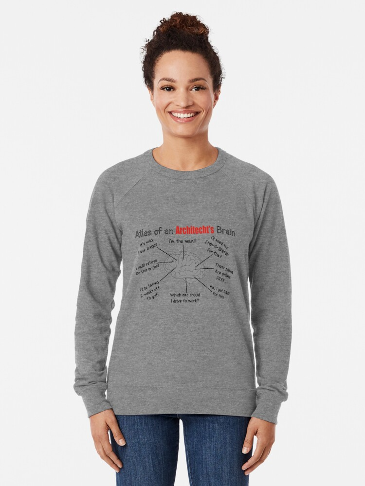Alternate view of Architect Humor Lightweight Sweatshirt
