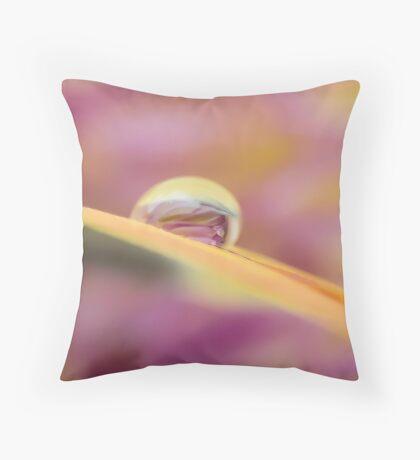 Wave of Seamless Light Throw Pillow
