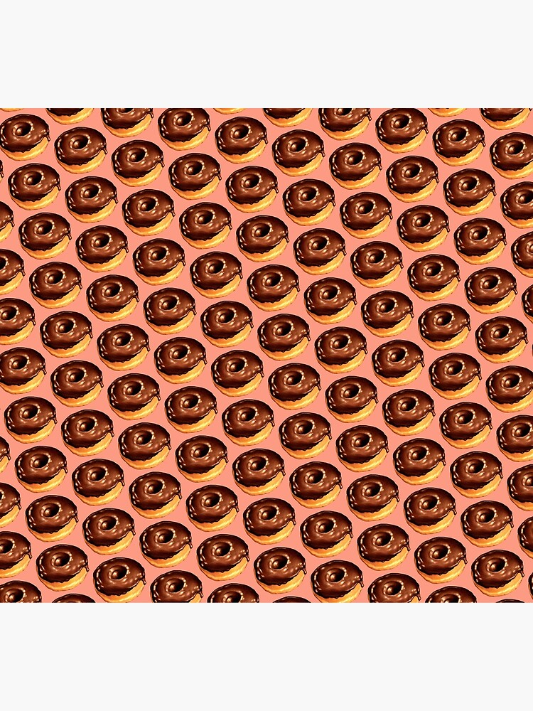 Chocolate Donut Pattern - Pink by KellyGilleran