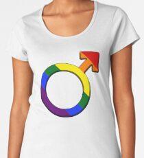 Pride Male Symbol Premium Scoop T-Shirt