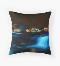 Christmas At The Falls-Sioux Falls, SD Throw Pillow