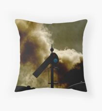 The last train Throw Pillow