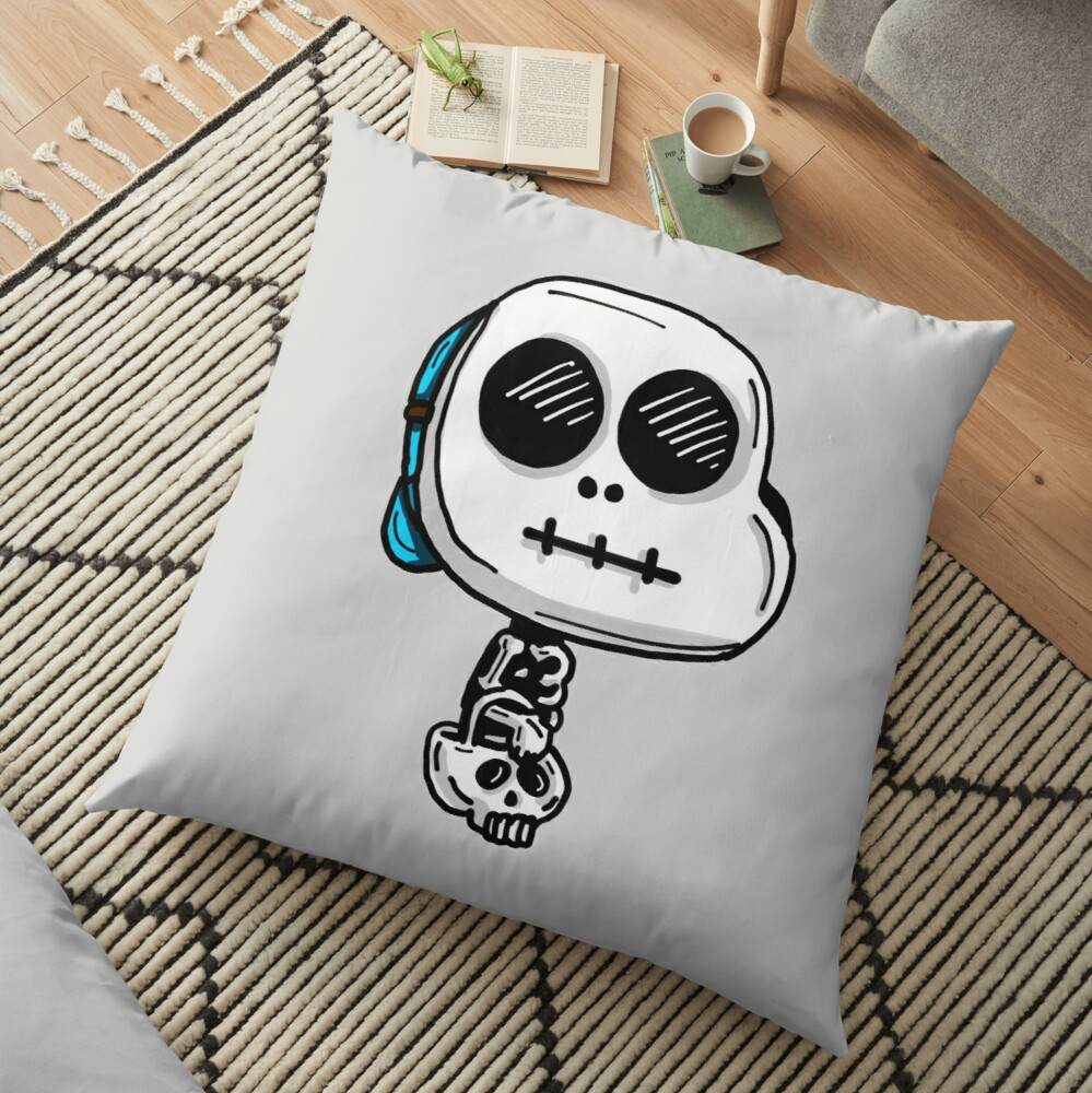 Gumball Watterson from The Amazing World of Gumball™ wearing a Halloween Skeleton Costume Floor Pillow