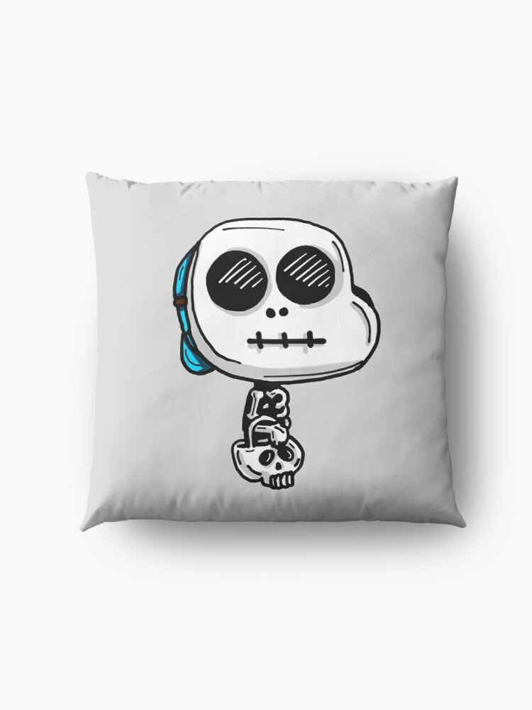 Alternate view of Gumball Watterson from The Amazing World of Gumball™ wearing a Halloween Skeleton Costume Floor Pillow