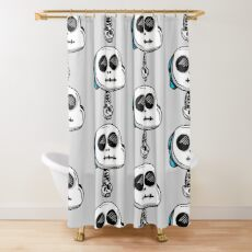 Gumball Watterson from The Amazing World of Gumball™ wearing a Halloween Skeleton Costume Shower Curtain