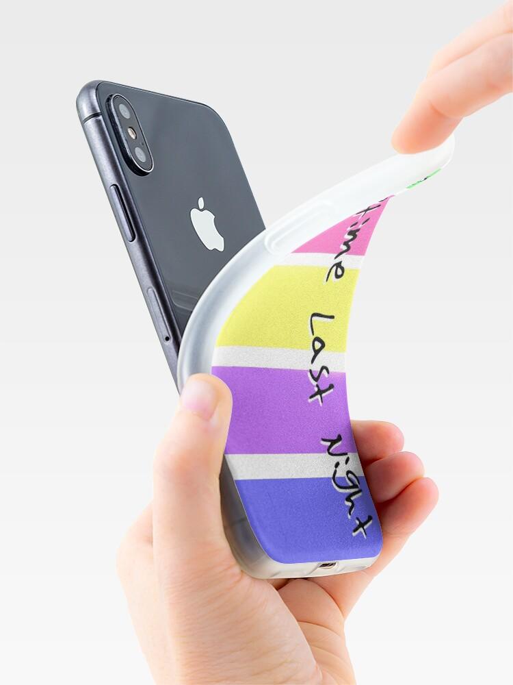 Alternative Ansicht von Irgendwann letzte Nacht - keine Namen iPhone-Hülle & Cover