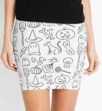 Halloween Icons   Black and White Mini Skirt