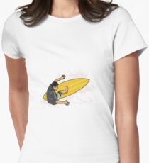 Vintage Surf Women's Fitted T-Shirt