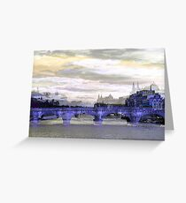 Parisian Mosaic - Piece 26 - La Seine Greeting Card