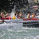 Start of Surfski race in Auckland, New Zealand by TonySlattery