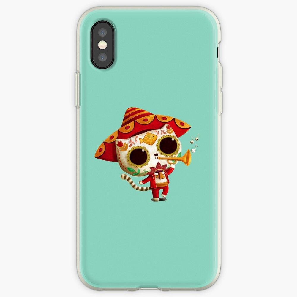 The Day of the Dead Cute Cat El Mariachi iPhone Case & Cover