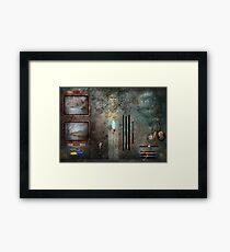 Steampunk - Control Panel Framed Print