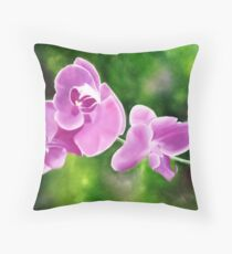 Tropical Allure - Floral artwork Throw Pillow
