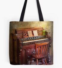 Organist - Playing the songs of the gospel  Tote Bag