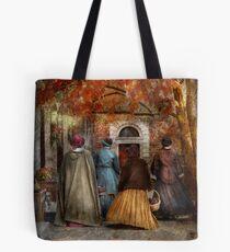 Autumn - A walk downtown  Tote Bag