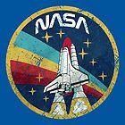 USA Space Agency Vintage Farben V01 von Lidra