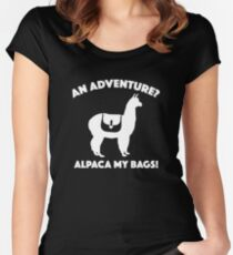 Alpaca My Bags Women's Fitted Scoop T-Shirt