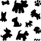 Schwarzweiss-Hundemuster von XOOXOO