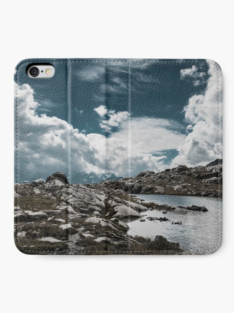 Alternate view of clouds in the mountains iPhone Wallet