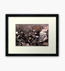 Black Legos  Framed Print