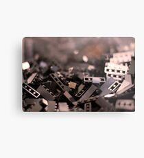 Black Legos  Metal Print