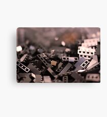 Black Legos  Canvas Print